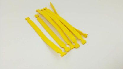 oznaczniki nacinane do oznaczania przewodów o dużych średnicach. montowane za pomocą opaski zaciskowej.