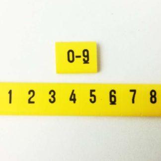 oznacznik kablowy nasuwany liczby od 0 do 9, oznacznik przewodów, oznacznik OZ, oznaczniki do samodzielnego montażu
