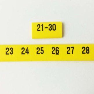 oznacznik kablowy nasuwany liczby od 21 do 30, oznacznik przewodów, oznacznik OZ, oznaczniki do samodzielnego montażu