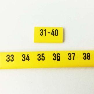oznacznik kablowy nasuwany liczby od 31 do 40, oznacznik przewodów, oznacznik OZ, oznaczniki do samodzielnego montażu