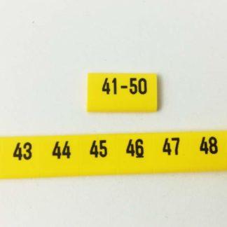 oznacznik kablowy nasuwany liczby od 41 do 50, oznacznik przewodów, oznacznik OZ, oznaczniki do samodzielnego montażu