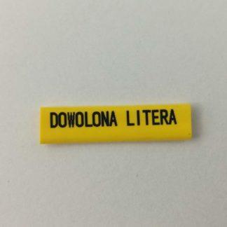 oznacznik kablowy z dowolnie naniesioną literą, litery alfabetu, znaki specjalne, symbole elektryczne