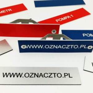 oznacznik przemysłowy do oznaczania rur i rurociągów a także pozostałych instalacji przemysłowych oraz jej elementów składowych