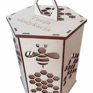 skrzynki na miód; miód; opakowania na miód; drewniane pudełko na miód; pudełko grawerowane; pudełko z logiem